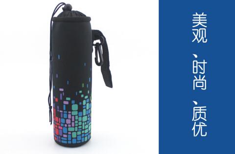 Мода неопрен красочные плед печать хранения сумки чашка сумки для 500 мл бутылки