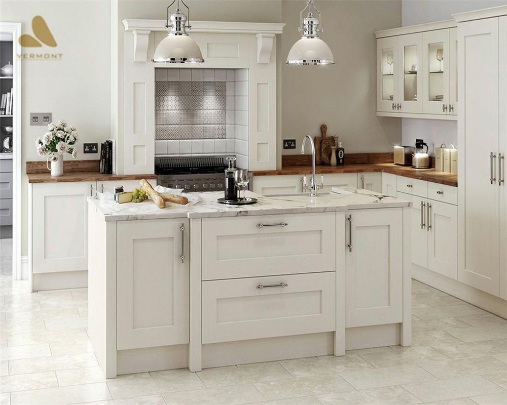 2018 Hangzhou Vermonhouse White High Gloss Kitchen Cabinet ...