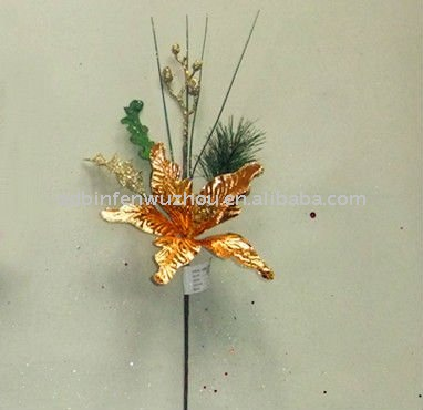 Artificial Embossed Hanging Paper Christmas Flowers