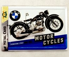 Custom MOTORCYCLES Souvenir Decorative Gift Tin Metal Postcard License Plate Sign