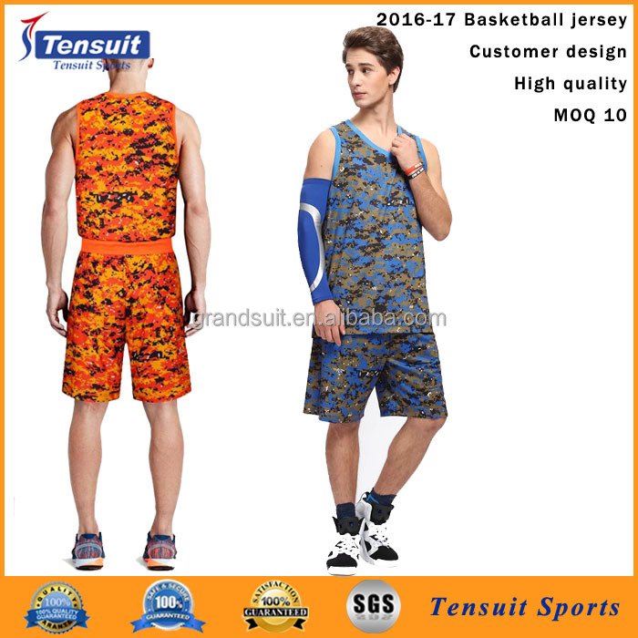 popular wholesale camouflage basketball uniforms high quality customer latest design sublimation dri fit jersey basketball