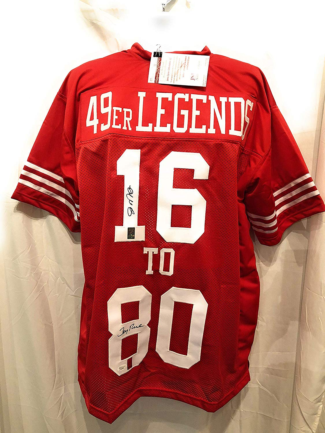 fd457f3a4 Get Quotations · Joe Montana Jerry Rice San Fransico 49ers Dual Signed  Autograph Custom Jersey 49er LEGENDS GTSM