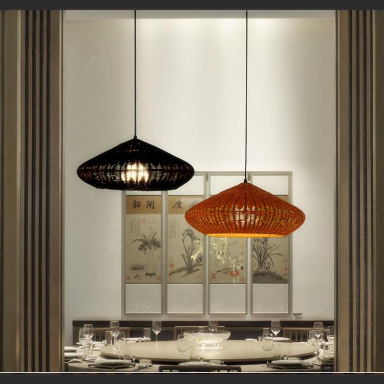 Light Pendants Globe Rattan Lamp Shades