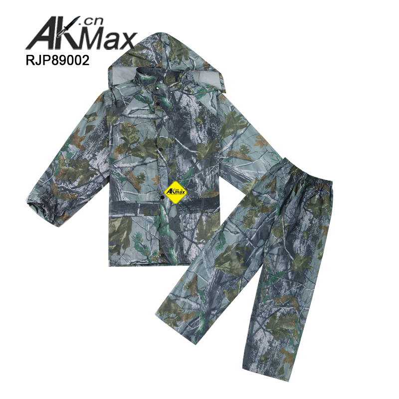 Camouflage military water proof rain suit for men