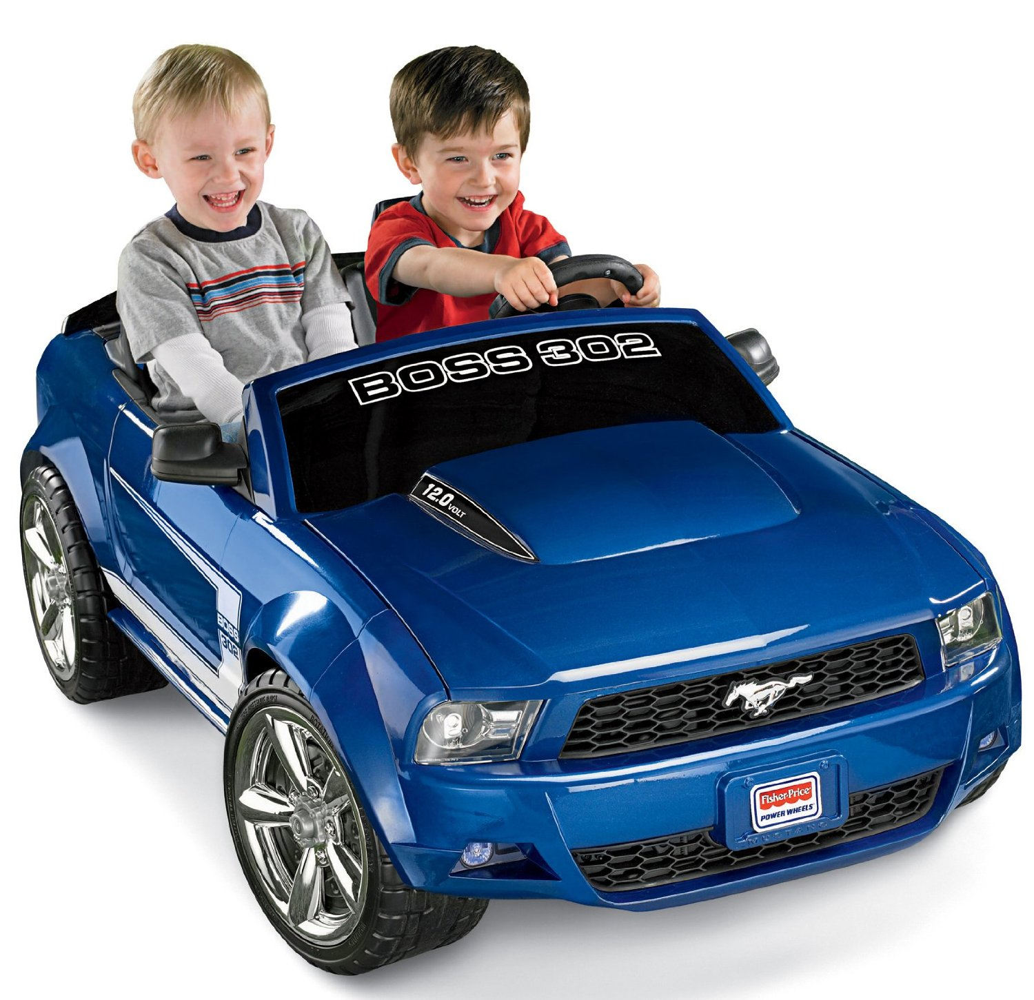 Fisher-Price Power Wheels Ford Mustang Car Ride-On Toy, Blue