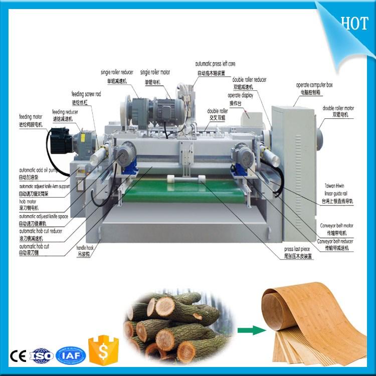 2600 mm Plywood Veneer Peeling Rotary Cutting Slicer Machine