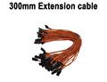 Free ship 300mm Servo Extension Lead wire cable for JR Futaba 50pcs lot JR male plug