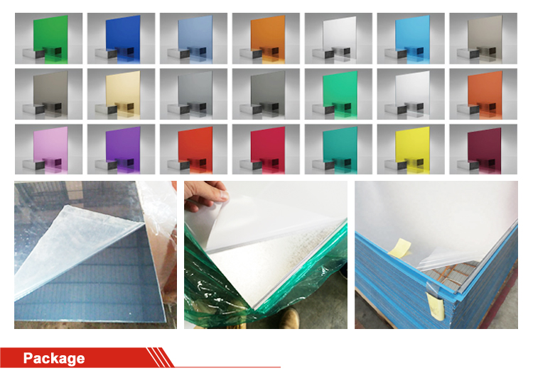 1mm-6mm acrylic double sided mirror sheet