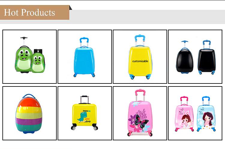 Conception personnalisée Impression bagage enfant sac de bagage de chariot de voyage d'enfants