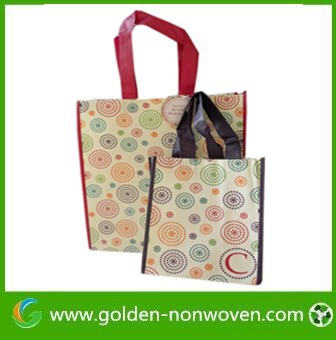 Recycled gusset sewn PP nonwoven shopping bag - ecobag