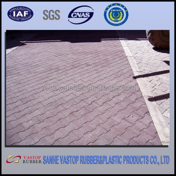 Aging Resistant Colorful Horse Rubber Pavers of Rubber Material