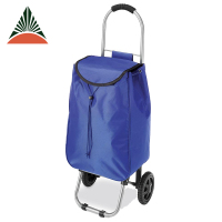 Supermarket Wholesale Wheeled Nylon Foldable Shopping Trolley Bag