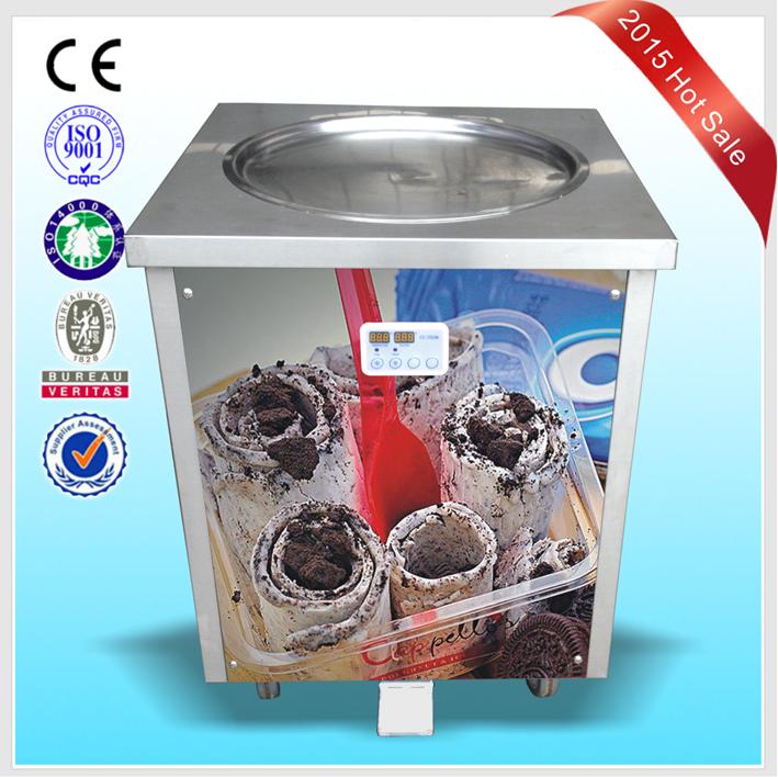 Exceptional Frozen Ice Cream Machine Part - 9: DHL Air Express To Door Worlwide Frozen Yogurt Rolls Fry Ice Cream Machine  With Real Fruits