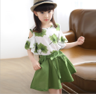Hao Baby Girls Short Sleeve T-Shirt Skirt Set Summer Clothes Kids Girls Clothing