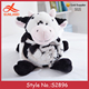 S2896 new bolster pillow blankets sets cow shaped animal head plush baby animal blankets