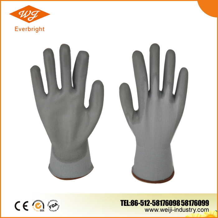 13G Nylon/Polyseter liner, Nitrile Palm Coated Glove, Smooth Surface Glove