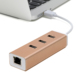 USB 3.0 to 10 100 1000 Gigabit Ethernet LAN Wired Network card USB 3.0 to RJ45 With 3 Port USB3.0 Hub