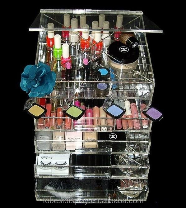 2016 hot wholesale acrylic drawers cosmetic organizer