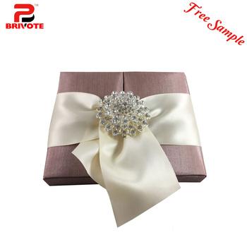 Gatefold Silk Invitation Box Wedding Invitations Wholesale