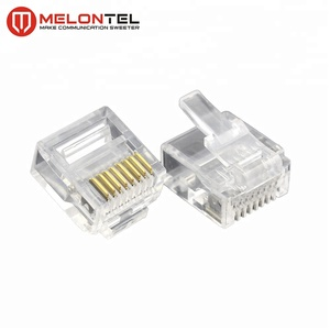 MT-5053S Fully Stocked Gold Plated RJ45 8P8C Small Plug Cat5E Cat6 Cat7 Modular Connector
