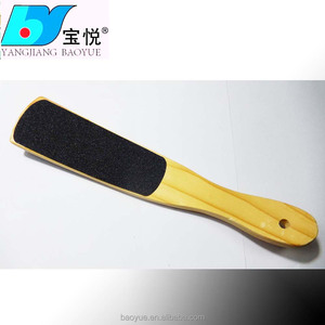 New arrival!! High quality wooden foot file curved pedicure file