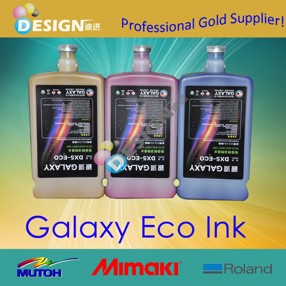 Galaxy DX5 compatible with large format printer eco solvent ink for dx5 printhead