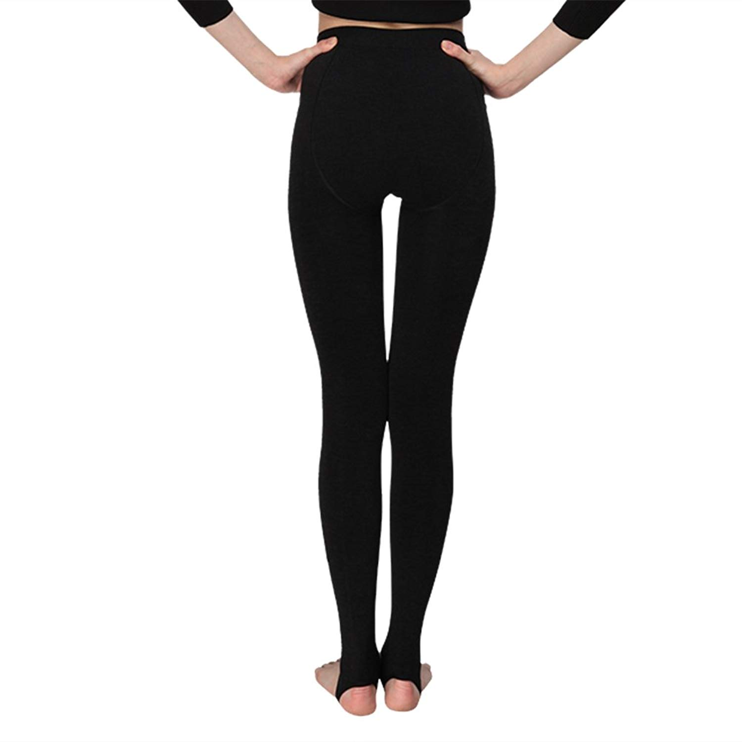 5b08986321e858 Get Quotations · INCHER Fleece Leggings, Stirrup Leggings,Warm Fleece Lined  Tights Thermal Winter Pantyhose Tights
