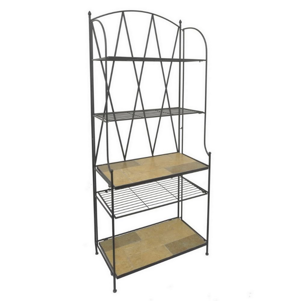 Benzara 88977 Metal Mosaic Bakers Rack