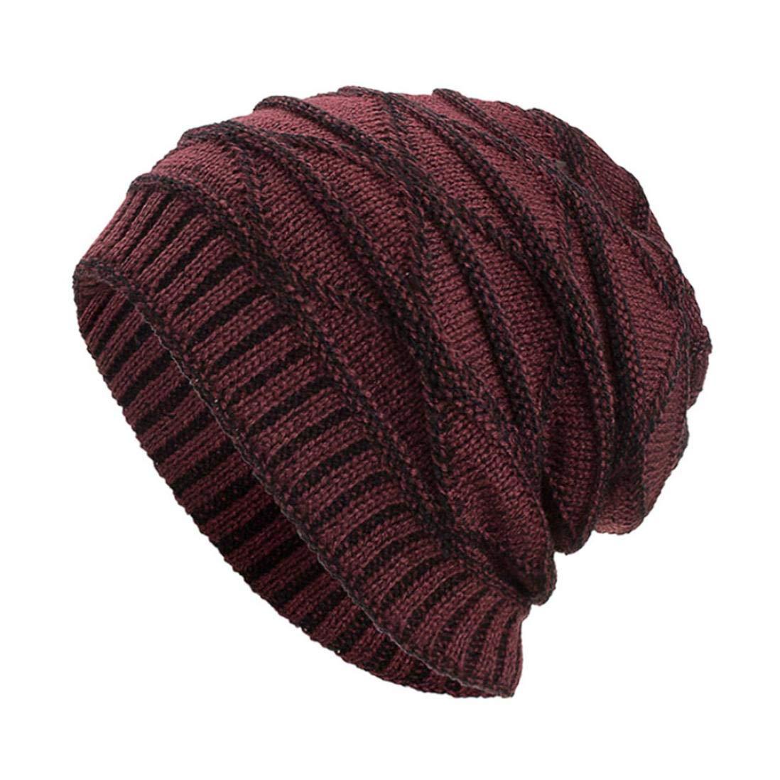 6b3452b6c5f Get Quotations · Tootu Women Men Winter Wool Knit Ski Beanie Skull Caps Hat