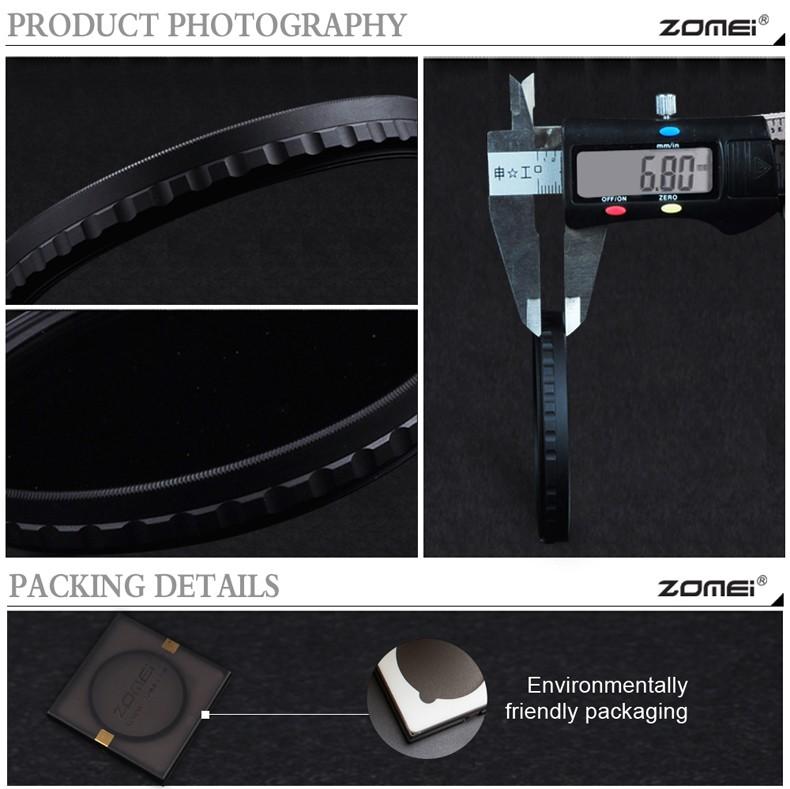 zomei HD 슬림 조절 변수 nd2 nd400에 77mm 필터