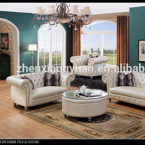 2018 Wholesale furniture with high quality victorian style royal elegant living room furniture set