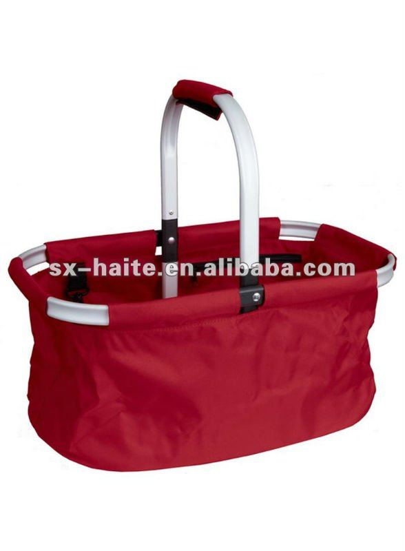 Folding cloth shopping basket