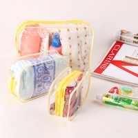 3 size pvc wash Portable Travel Luggage Pouch Airport Airline Bags Vacation Gym Bathroom Organization