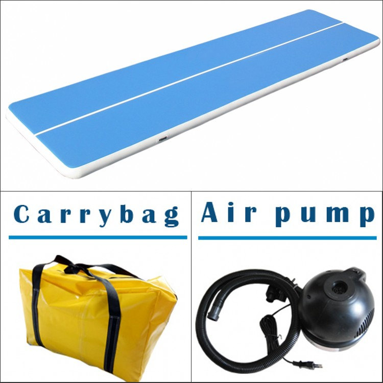2019 hot sell best quality DWF material tumbling mat air floor blue inflatable air track for gymnastics