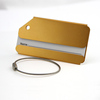Gold Color anodized aluminum metal luggage tag