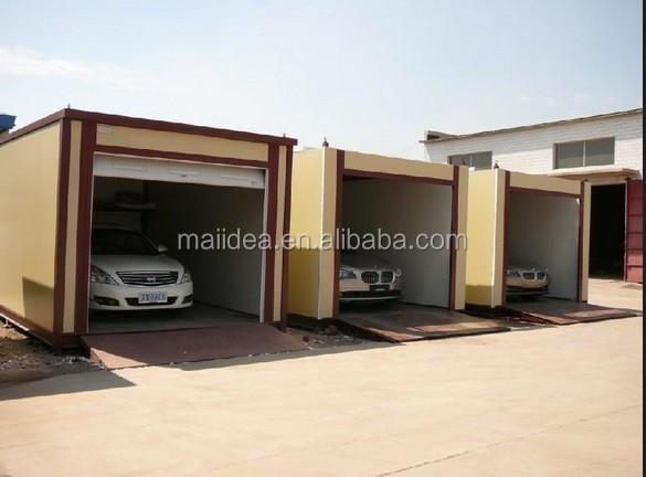 chinois structure en acier de voiture garage shipping container garage maisons pr fabriqu es id. Black Bedroom Furniture Sets. Home Design Ideas