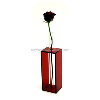 Tall Clear Acrylic Flower Vaseplexiglass Bouquet Display Botttle