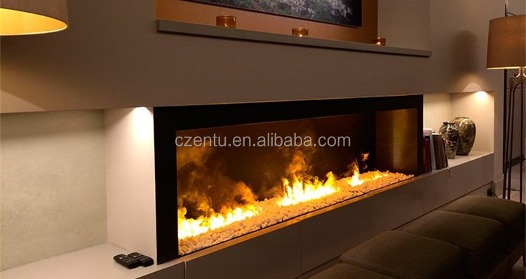 Round Electric Fireplace