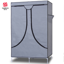 Simple Bedroom Fabric Portable Assemble Folding Sliding Cloth Wardrobe