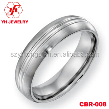 Class Cobalt Chrome Diamond Wedding Band For Men Women Mood Rings