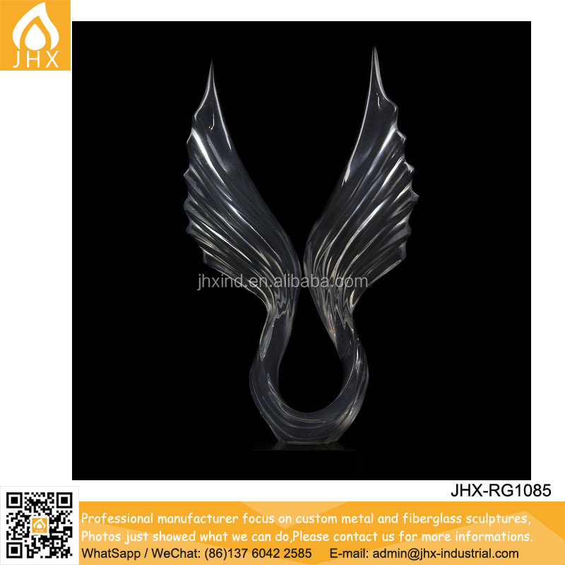 Fashion Transparency Polyresin Small Angel Wings For Crafts