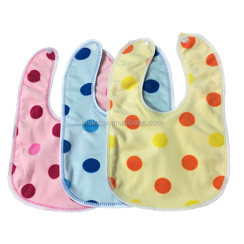 custom comfortable soft baby bib plain printed unisex cotton bibs