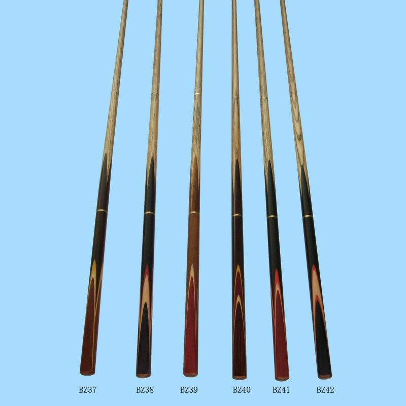 BZ37--BZ42 maple snooker cues,billiard cue stick