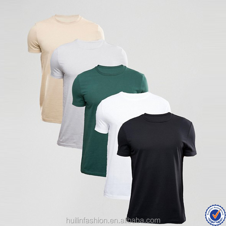 dongguan t shirt short sleeve crew neck custom basic t shirt
