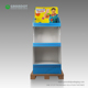 Customizable foldable Funko cardboard 1/4 pallet shelf hat rack stand display