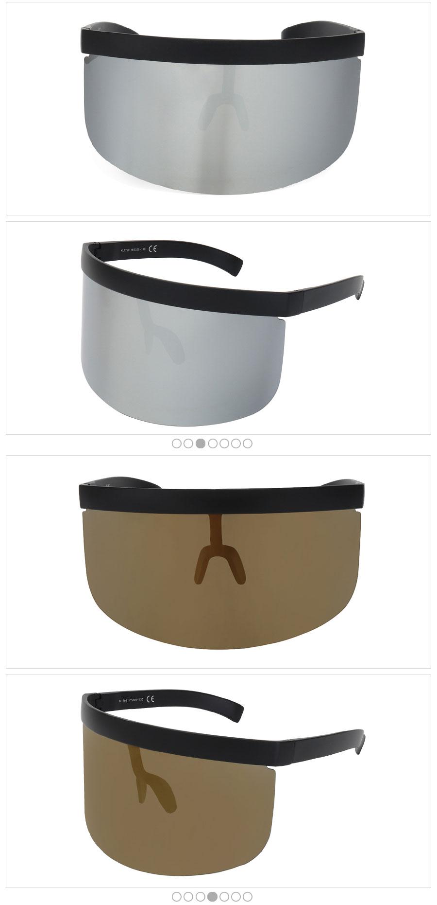 94db7234a12 Vintage Extra Oversize Shield Visor Sunglasses Women Flat Top Mask Mirrored  Shades Men Windproof Eyewear UV400
