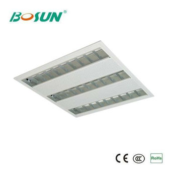 4x14w t5 grid fluorescent ceiling light fixture with electronic ballast - T5 Light Fixtures