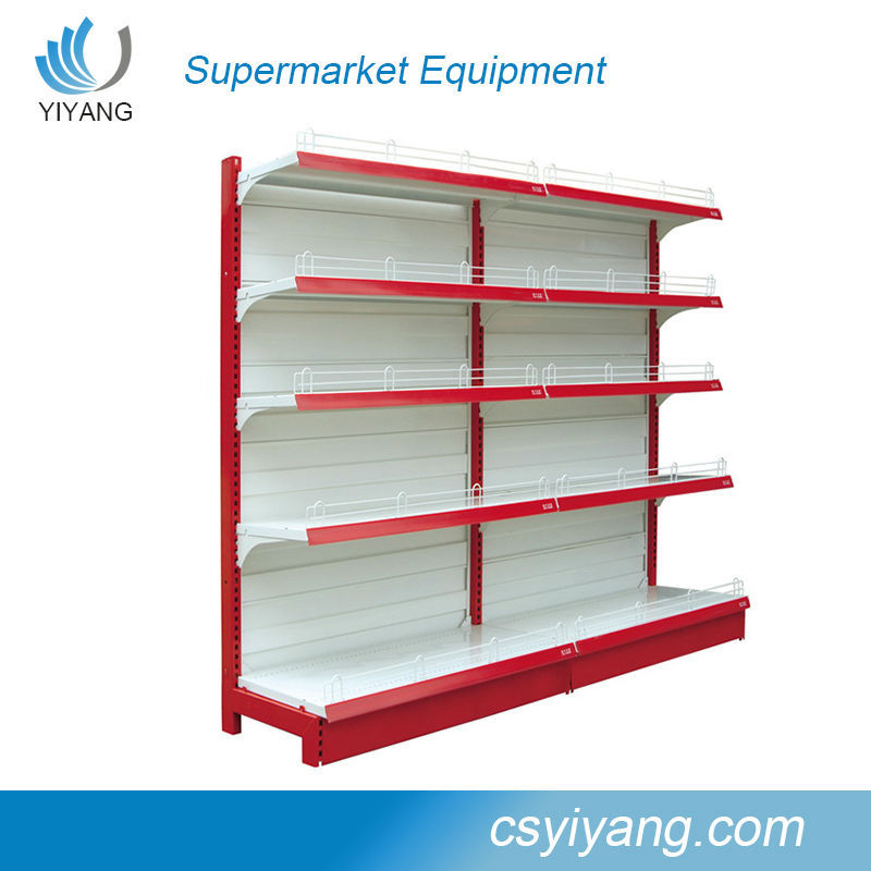 Changshu retail shelving/shopping mall display rack/single side supermarket <strong>shelf</strong>