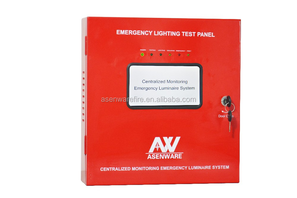 Address monitoring controlled by loop / group / zone emergency light