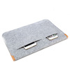 Custom Design Slim Eco-friendly Felt Sleeve Carrying Ultra Laptop Bag for Apple Mac book Pro